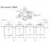 Tegning over et WS Bioclean 50PE fra Watersystems